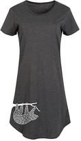Instant Message Women's Women's Tee Shirt Dresses HEATHER - Heather Charcoal Mandala Sloth Short-Sleeve Dress - Women & Plus
