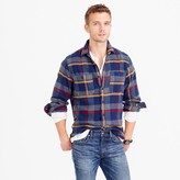 J.Crew Wallace & Barnes heavyweight flannel shirt in multicolor plaid
