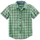 Carter's Toddler Boy Plaid Button Down Shirt