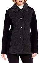 Preston & York Wool Single Breasted Classic Color Block Barn Coat