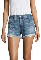 AG Jeans Sadie High-Rise Frayed Denim Shorts