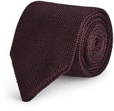 Reiss Canter - Knitted Silk Tie in Red, Mens