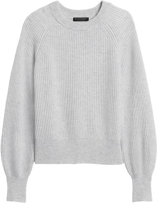 Banana Republic Cashmere Blouson-Sleeve Sweater