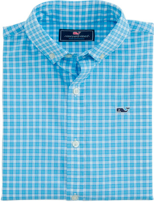 Vineyard Vines OUTLET Mens' Classic Fit Bermuda Check Performance Whale Shirt