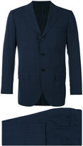 Kiton two piece check suit - men - Cupro/Wool - 50