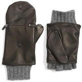 Echo Touch Glitten Knit & Leather Gloves