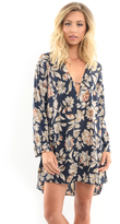 West Coast Wardrobe Enchanter Floral Print Dress in Navy