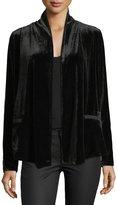 Bobeau Isabeli Open-Front Velvet Jacket
