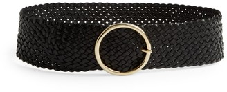 Andersons Wide Woven Leather Belt