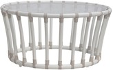 The Well Appointed House Circular Outdoor Coffee Table in Dove White