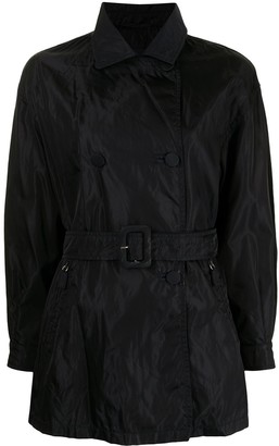 Prada Pre-Owned Short Belted Trench Coat