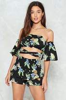 Nasty Gal nastygal Floral That She Wants Crop Top and Shorts Set