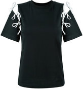 Facetasm cut-out string T-shirt - women - Cotton - 2