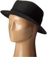 San Diego Hat Company UBS1512 Boater Hat with Open Weave and Grossgrain Ribbon