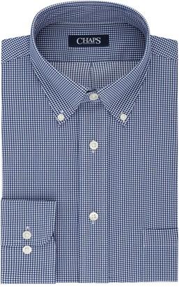 Chaps Men's Performance Engineering Comfort Stretch Collar Pattern Dress Shirt