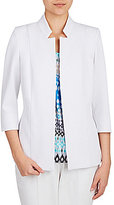 Allison Daley Petites Stand Collar Open Front Jacket