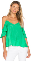 Blaque Label Ruffle Top in Green. - size S (also in XS)