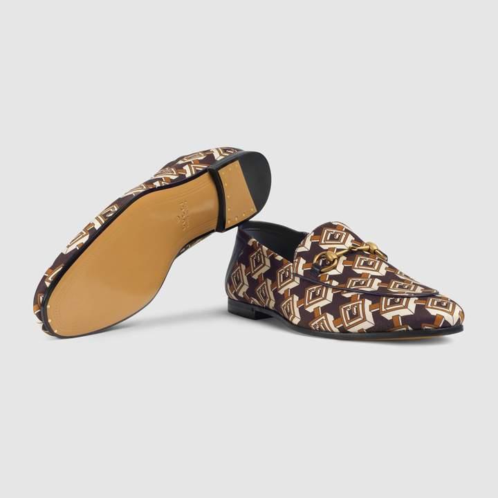 Gucci Geometric G print loafer