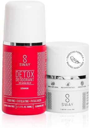 Sway Natural Detox Deodorant and Dusting Powder Set - Geranium Sensitive Formula