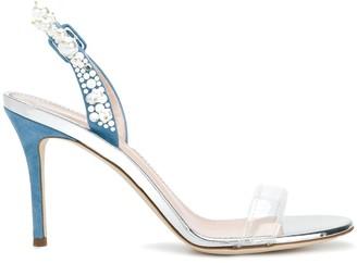 Giuseppe Zanotti Pearl Embellished Sling Back Sandals