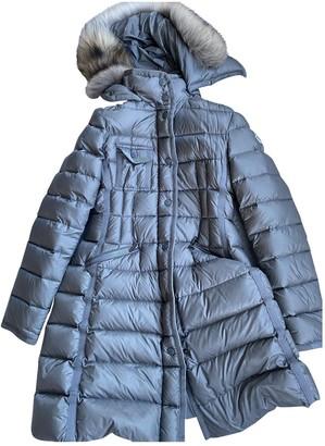 Moncler Long Grey Fox Coats