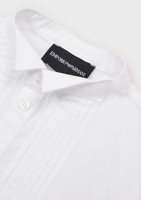 Emporio Armani Shirt With Pleated Detail