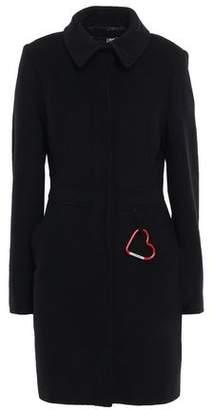 Love Moschino Embellished Brushed Wool-blend Felt Coat