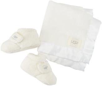 UGG Bixbee Booties & Lovey Baby Blanket Set