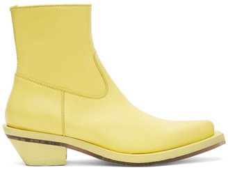 Ion Yellow Pointed Boots