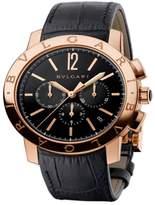 Bulgari 18K Pink Gold Chronograph 41mm Mens Watch BBP41BGLDCH