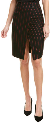Pinko Wool-Blend Wrap Skirt