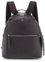 Fendi Leather Large Dome Backpack, Black