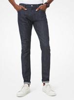 Michael Kors Mens Parker Skinny-Fit Stretch-Cotton Jeans