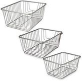 Spectrum Ashley Storage Basket in Satin Nickel