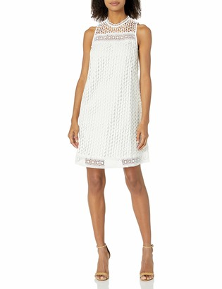 Moon River Women's Dress with Lace Trim