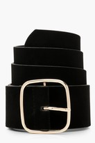 Thumbnail for your product : boohoo Suedette Square Buckle Waist Belt