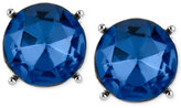 Kenneth Cole New York Silver-Tone Blue Faceted Bead Stud Earrings