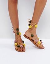 Pull&Bear Pom Pom Sandal