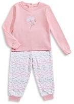 Petit Lem Flowers Two-Piece Pyjama Set