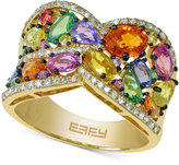 Effy Multi-Stone (3-9/10 ct. t.w.) and Diamond (1/4 ct. t.w.) Ring in 14k Gold