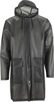 Rains The Foggy Black Waterproof Unisex Hooded Coat - XXS/XS