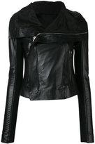 Rick Owens classic biker jacket - women - Leather/Cupro/Viscose - 40