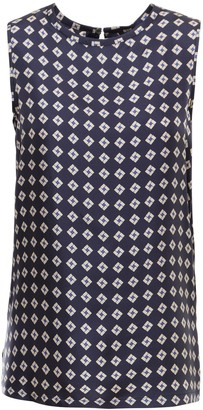 Max Mara 'S Sleeveless Printed Twill Top