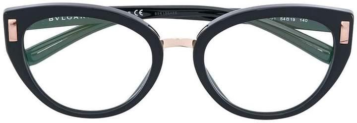 Bulgari side stud oval glasses