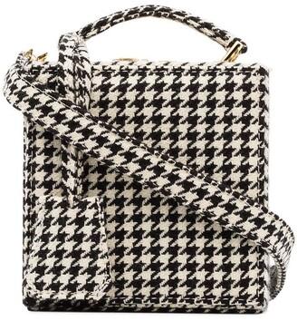 Natasha Zinko Black And White Tweed Wool Box Bag