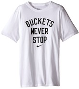 Nike NA Buckets Never Stop Tee (Little Kids/Big Kids)