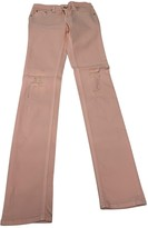 Rag & Bone Pink Cotton Trousers for Women