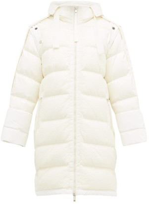 2 Moncler 1952 - Narvalong Longline Quilted Down Jacket - White