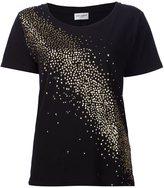Saint Laurent glitter detail T-shirt - women - Cotton/Polyester - XS