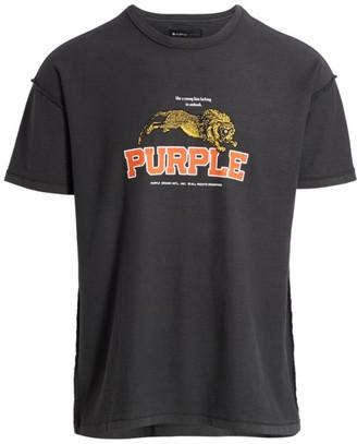 Purple Brand Tiger Graphic T-Shirt